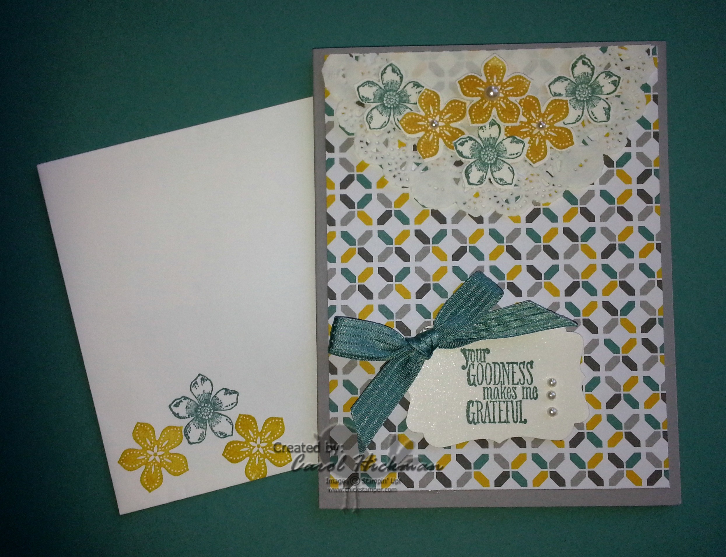 stampin up chickstamper petite petals something to say card